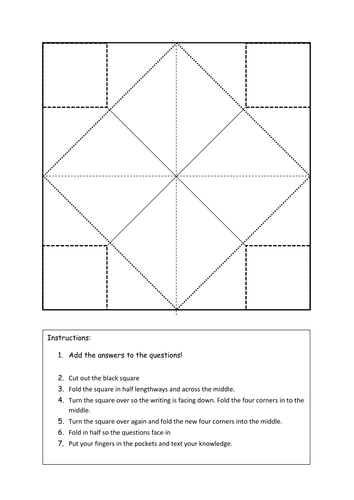 Chatterbox template by teaching resources tes for How to make a chatterbox template