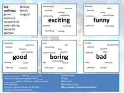 Film Review Word Mat Teaching Resources