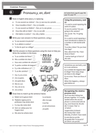 GCSE French Grammar and Vocabulary worksheets by