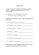 Learning Letters Worksheets Spooky Similes By Totoro  Teaching Resources  Tes Single Digit Division Worksheets Pdf with Proving Lines Parallel Worksheet Spooky Simile Worksheetdoc  Supper Teacher Worksheet Excel