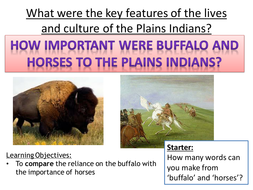 How important were the buffalo and horses?