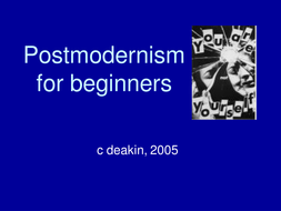postmodernism for beginners by deakin66 teaching resources tes
