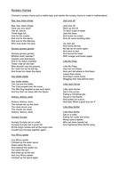 nursery rhymes and poems worksheet.doc