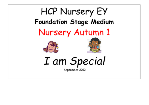 EYFS Medium term planning 2012 Ourselves by cinderella1