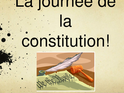 US Constitution, French and Montesquieu