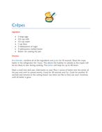 Crêpe recipe
