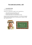 First week back exciting activities - KS2 Ideas