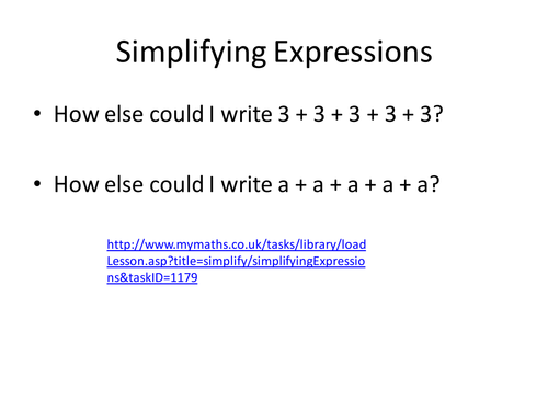 Simplifying Expressions by dannytheref Teaching Resources TES – Simplifying Expressions Worksheets