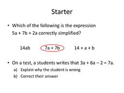 Simplifying Expressions Recap Yr 8.pptx