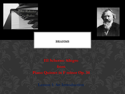 Brahms' Piano Quintet in F Minor