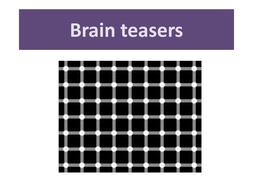 Brain teasers to use in form