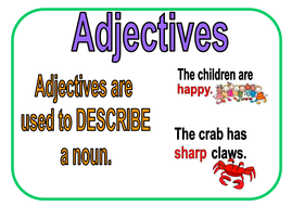 adjective adverbs nouns conjunctions and verbs by beckamcewan123