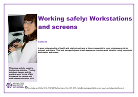 Working Safely: workstations and screens