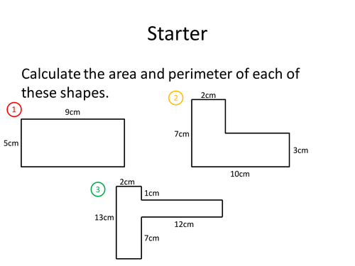 Area And Perimeter By Dannytheref Teaching Resources Tes