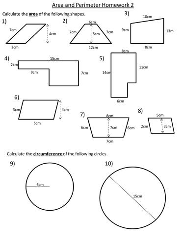 Homework sheets ks3