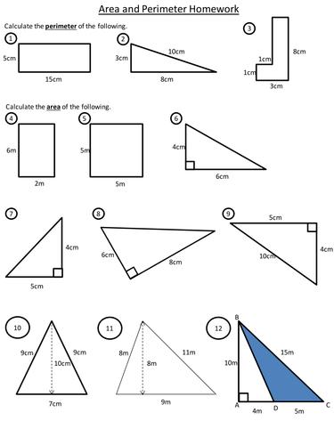 Area and perimeter homework help / Homework help for cosmetology