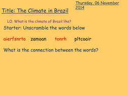 Lesson 3 - Climate of Brazil.pptx