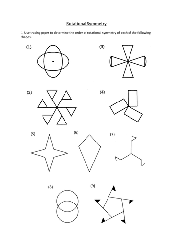 Rotational Symmetry worksheet by dannytheref - Teaching Resources ...
