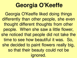 quick intro to georgia o'keeffe for year 7 | Teaching Resources