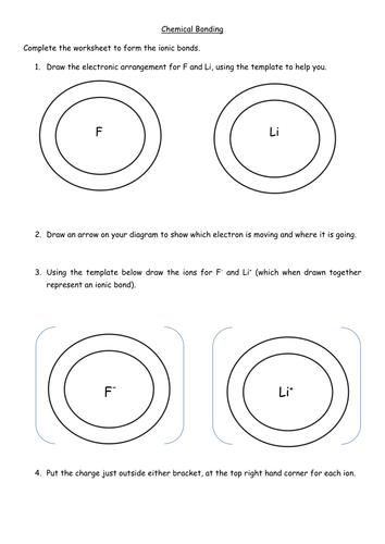 Ionic Bonding Worksheet by jechr - Teaching Resources - Tes
