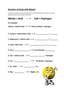 Reaction metals carbonates oxides acid worksheet by gerwynb acid with metals worksheetcx ibookread PDF