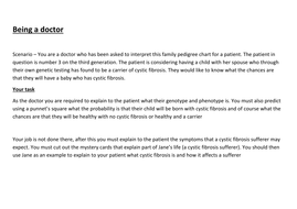 Cystic fibrosis pedigree thinking skills
