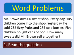 steps to solve a word problem