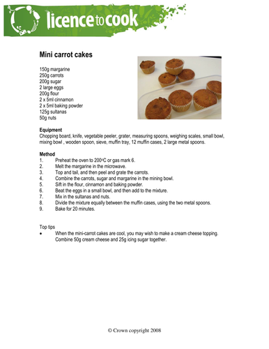 Licence To Cook Mini Carrot Cakes