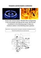 Incomplete combustion AFL task