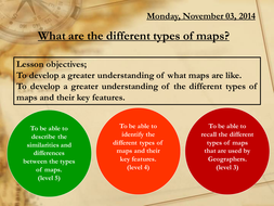 what are the different types of maps by 88collinsl teaching