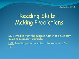 Reading Skills - Making Predictions