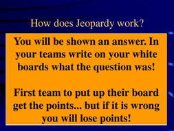 21st Century OCR B2 Jeopardy Revision Game