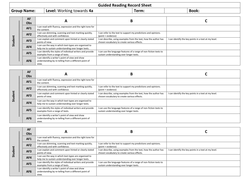 Guided Reading Record Sheet Towards 4a.docx
