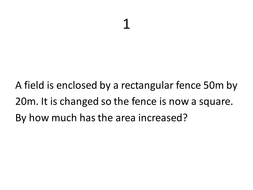 Maths Area and Perimeter Problems powerpoint by JamesBeltrami ... 93021e41f