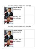 Mock USA Presidential election 2012