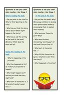 KS1 reading questions bookmark