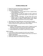 The Battle of Hastings notes.doc