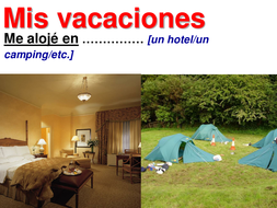 Las vacaciones ACCOMMODATION.ppt