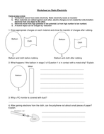Worksheet on Static Electricity by DrKKNaga  Teaching Resources  TES