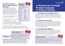 10 Reasons to Teach MFL in Primary Schools