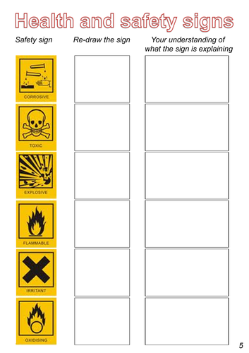 Printables Science Safety Symbols Worksheet worksheet safety symbols kerriwaller printables health and including coshh by gwilly teaching resources jpg