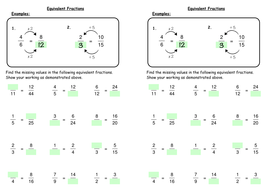Equivalent Fractions by deechadwick - Teaching Resources - Tes