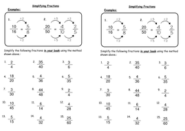 Simplifying Fractions by deechadwick | Teaching Resources