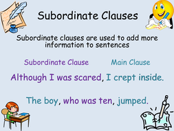 what is a subordinate clause in english