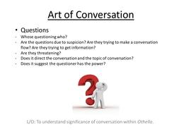 Conversation in Shakespeare: Language in Othello