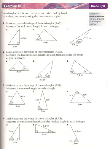 Constructing Triangles by lc23436 - Teaching Resources - TES