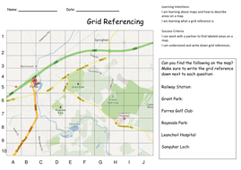 Grid referencing and map skills activities by kristopherc forres grid referencepdf gumiabroncs Image collections