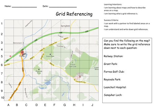 Grid Referencing and Map Skills Activities by KristopherC – Map Reading Worksheets