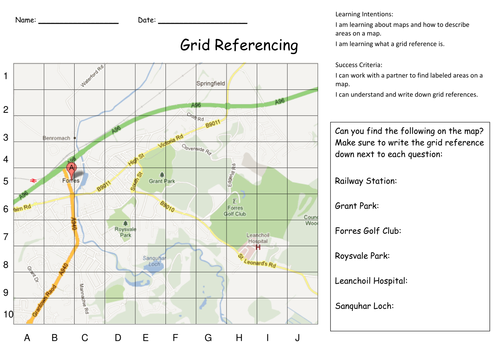 Collection of Map Grid Worksheet Sharebrowse – Grid Worksheets