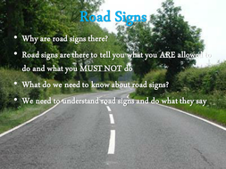 Road powerpoint templates free download road signs powerpoint.